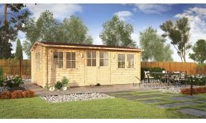 Log cabin OSLO 6x4m (24m²),...