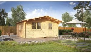 Log cabin FARO 4x4m (16m²),...