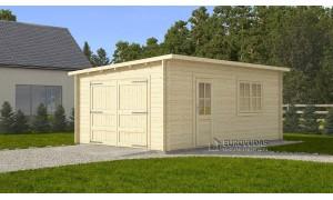 Modern garage 4x6m, 44mm