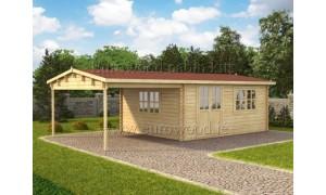 log cabin BRAVO 8x4m...